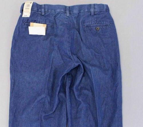 Haggar Men's Flat SV3 Blue Size 36 30