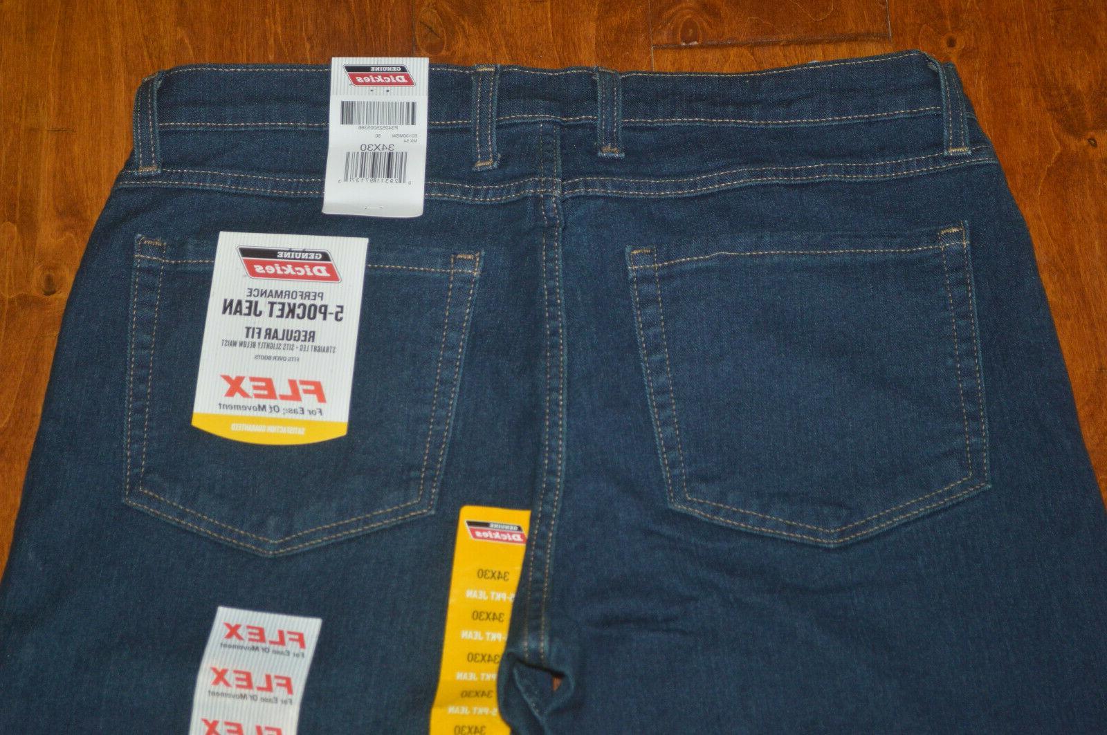 Men's Dickies Regular Flex Denim Jeans 32, 34, 40,