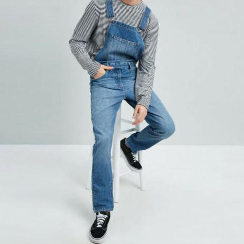 Men's Denim Bib Pants Suspender Overalls