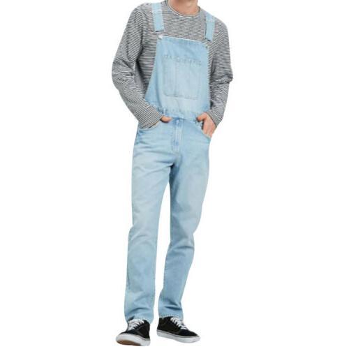 Men's Denim Full Jeans Suspender Overalls