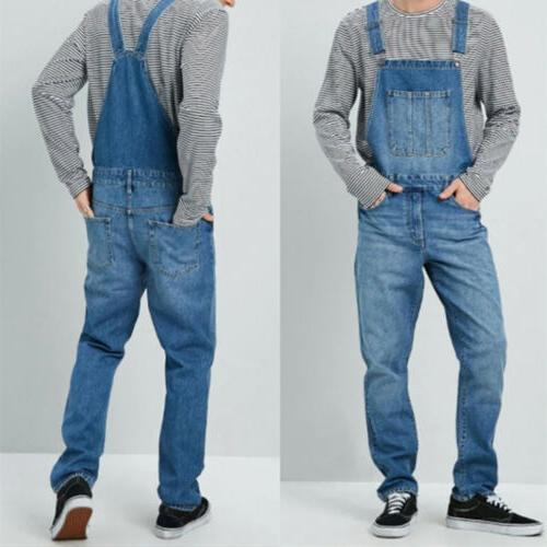 Men's Denim Full Length Jumpsuit Suspender Dungarees