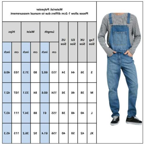 Men's Full Suspender Overalls Dungarees