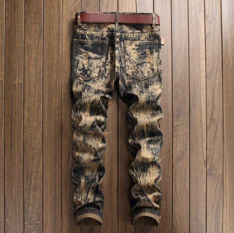Men's Skinny Distressed Slim Pants