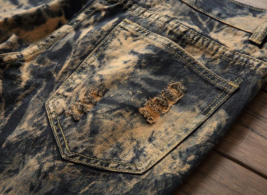 Men's Fashion Ripped Skinny Jeans Distressed Slim