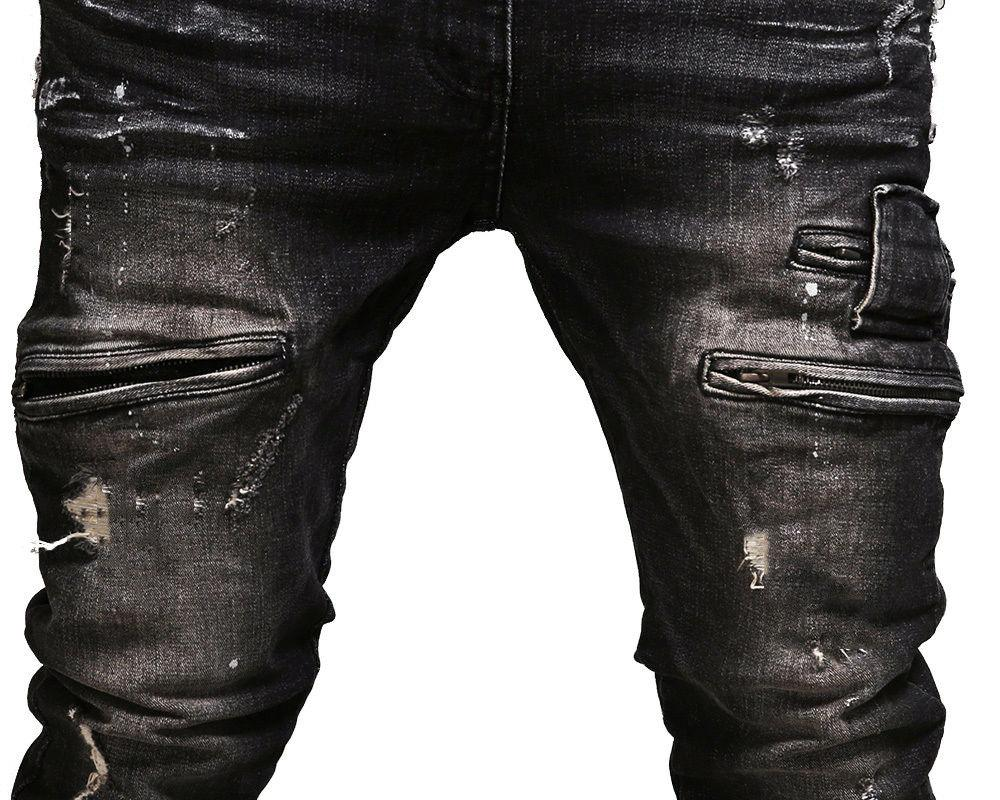 Moto Pants Slim