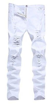 FREDD MARSHALL Men's Distressed Jeans, Slim-Fit Straight Leg