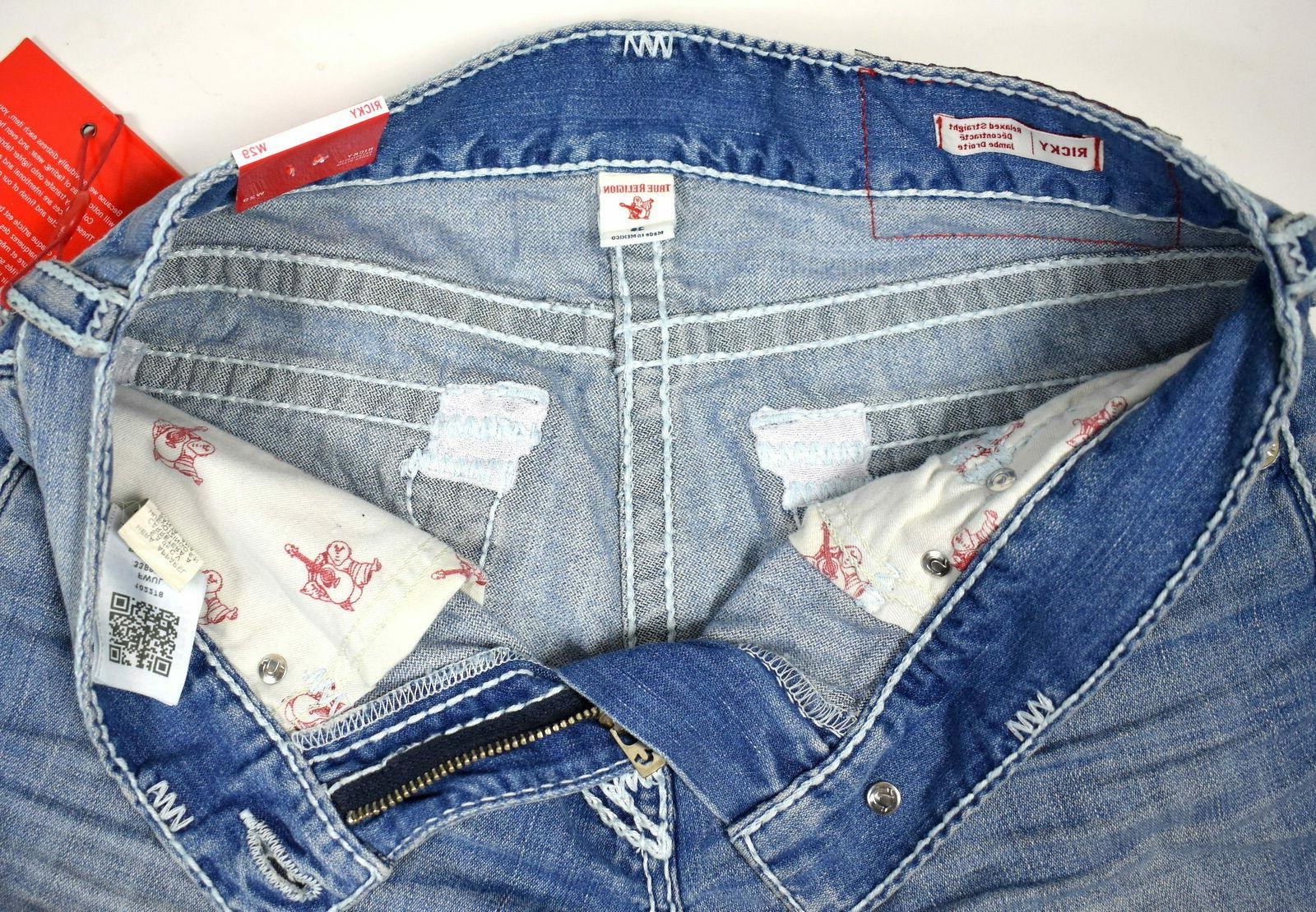 True Religion Men's Picked Relaxed Super