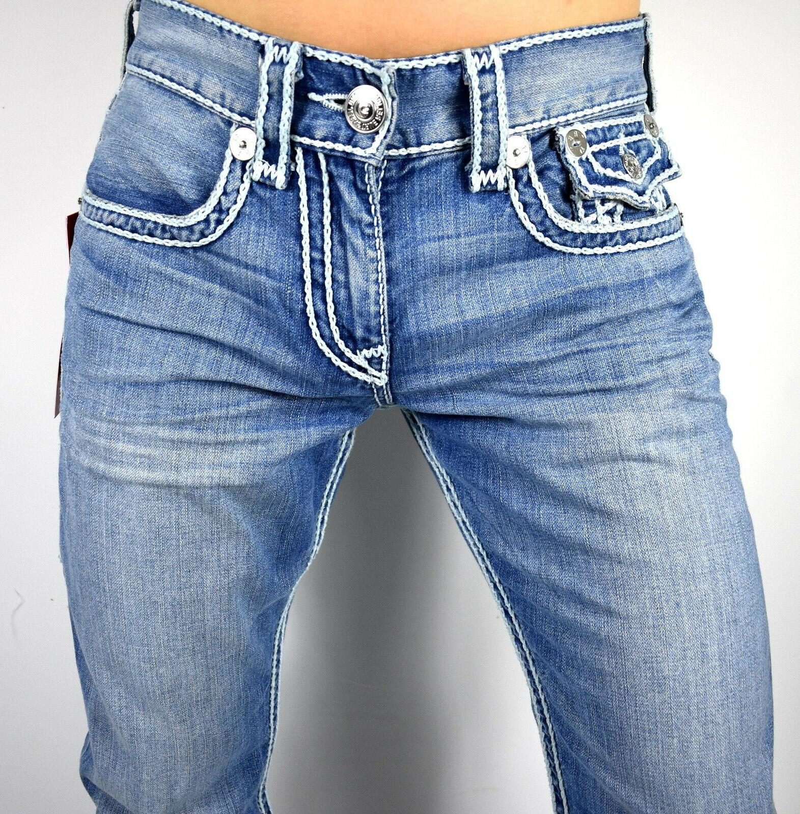 True Religion Men's Picked Ropestitch Relaxed Super Jeans