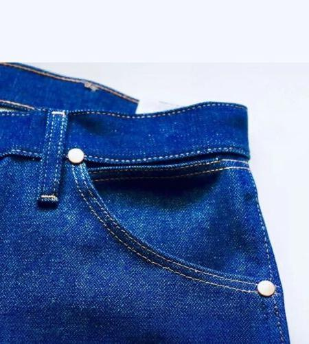 Men's Cut Rigid Blue Denim