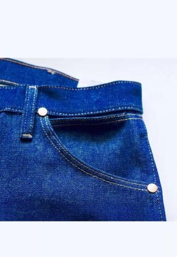 Men's Wrangler Jeans Cut Rigid Denim Medium Blue Bootcut New