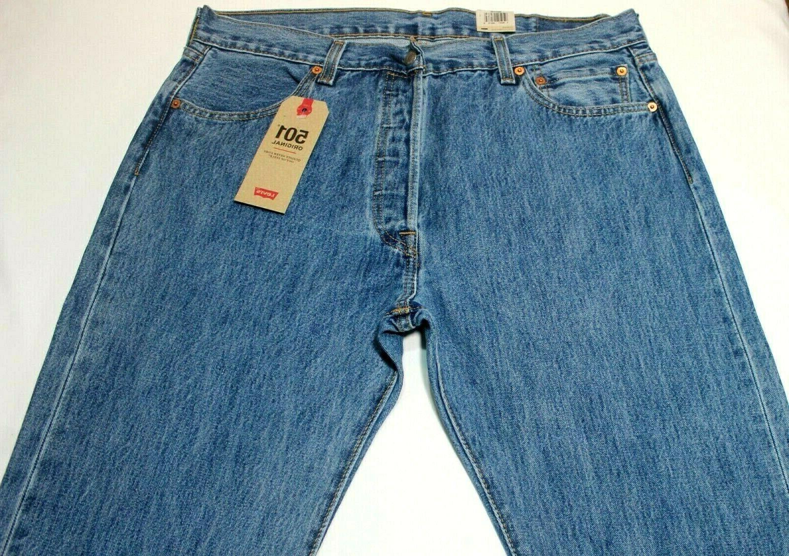 Men's Stonewash Blue Leg Button