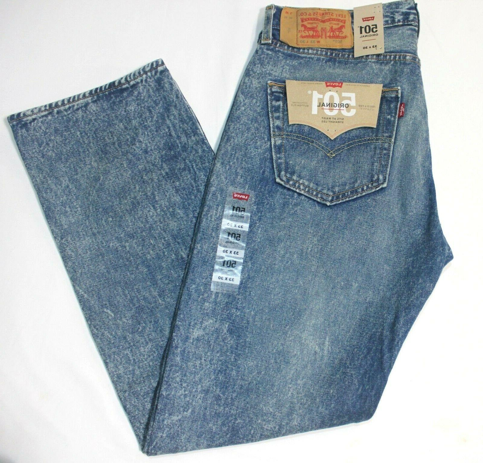 Men's 501 Stone Age Leg Button Jeans -