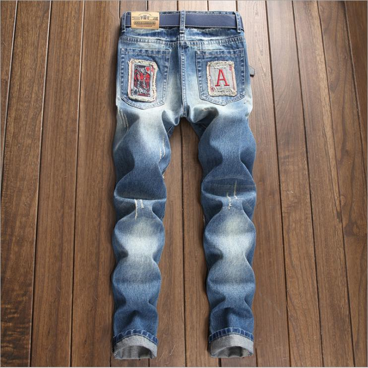 Fashion Men's Ripped Destroyed Straight Slim Pants US