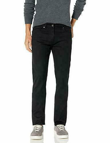 Lee Men's Modern Series Slim Fit Tapered Leg Jean Black Size