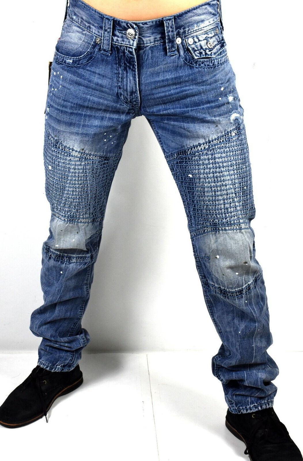 True Religion Relaxed Slim Moto Big T Brand Jeans 101483