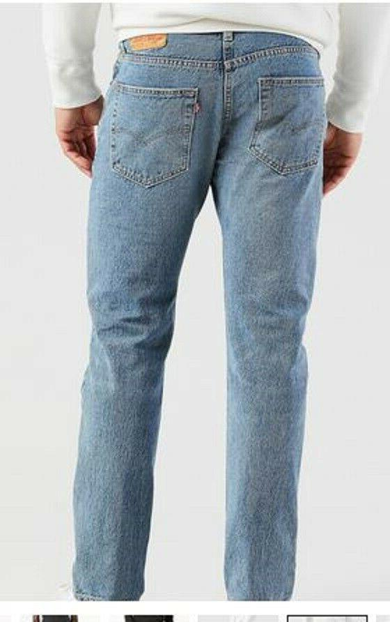 Men's 30 Levi's 502 Blue Regular Fit Tapered Leg
