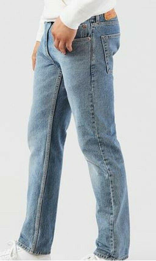 Men's New 30 30 Blue Regular Fit Slightly Tapered Leg Jeans
