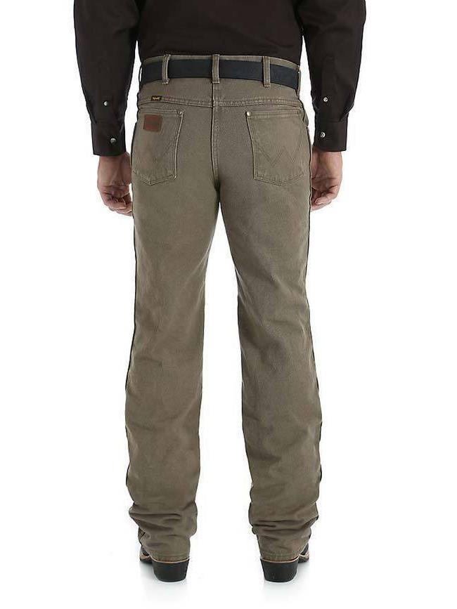 NWD WRANGLER Men's Slim Fit Cut Khaki Boot Cut Jeans