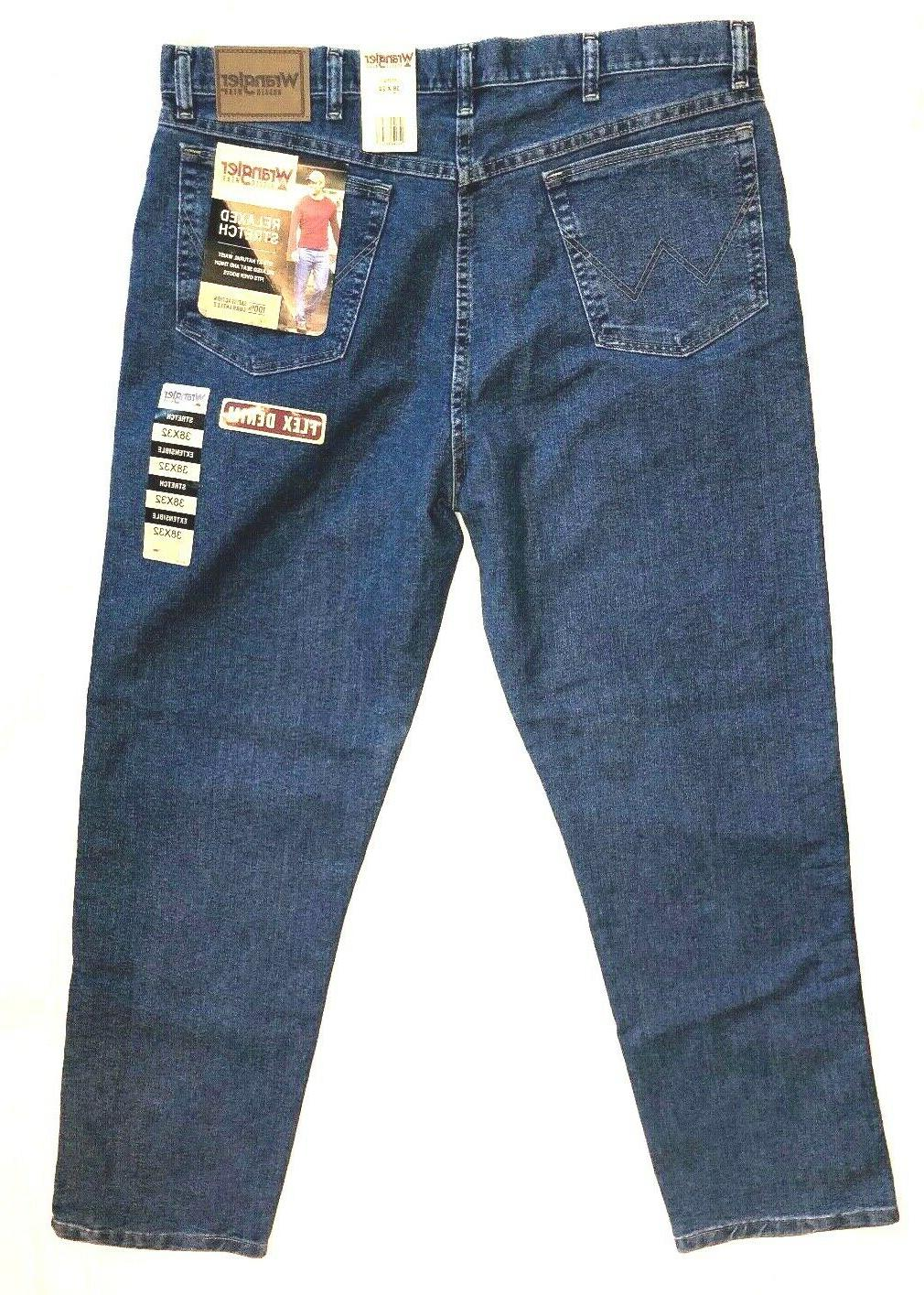 men s relaxed fit stretch bootcut blue