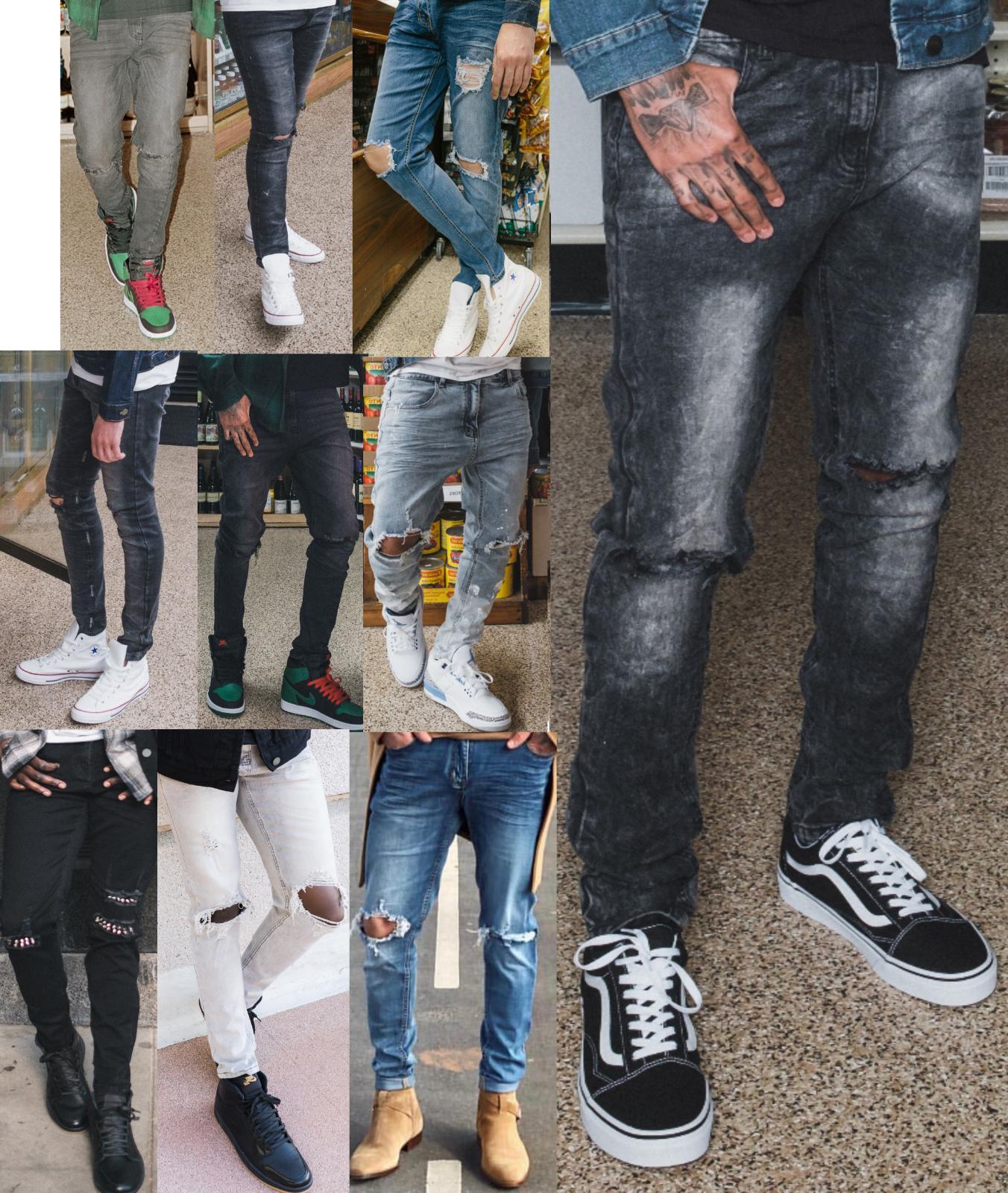 men s skinny jeans slim fit stretch