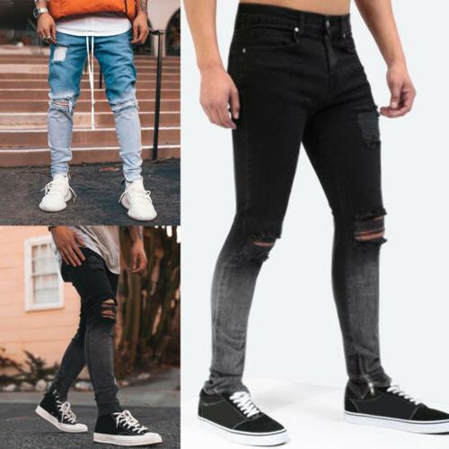 men skinny jeans slim fit jeans pants