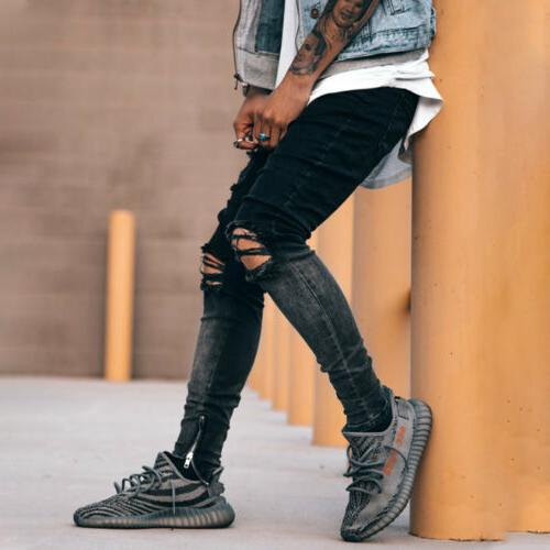 Men Skinny Slim Fit Stretch Trousers