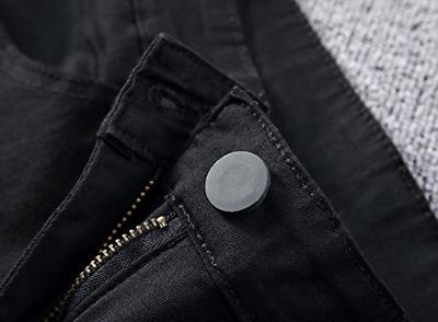 Leward Black Stretch Destroyed Skinny Jeans 36,