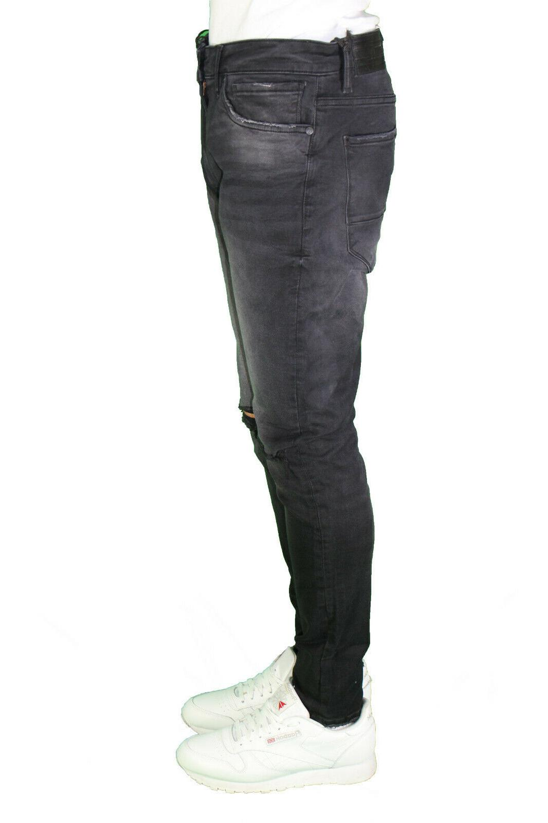 Men's Jordan Craig Fit Denim Biker Jeans 32-44
