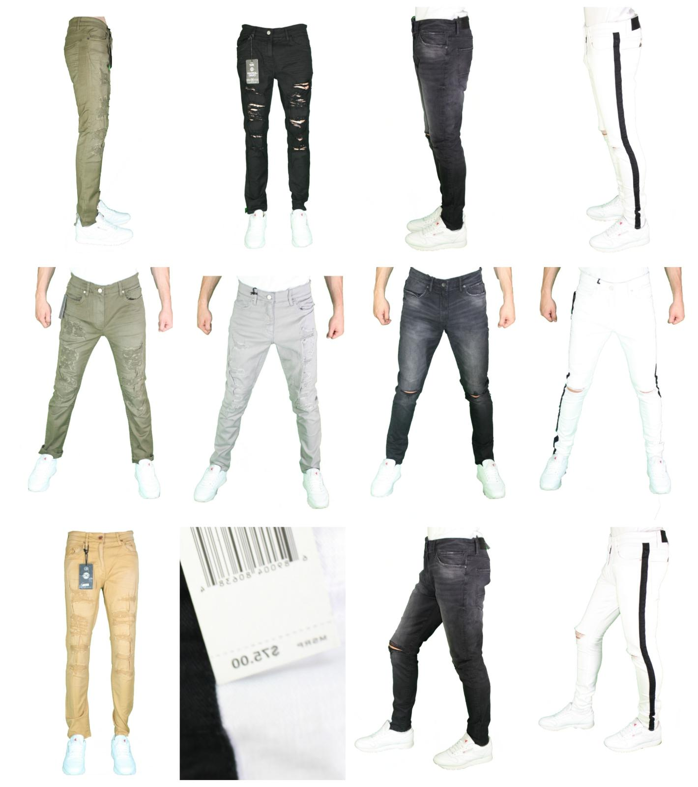 Men's Jordan Craig Slim Fit Skinny Super Stretch Denim Rippe