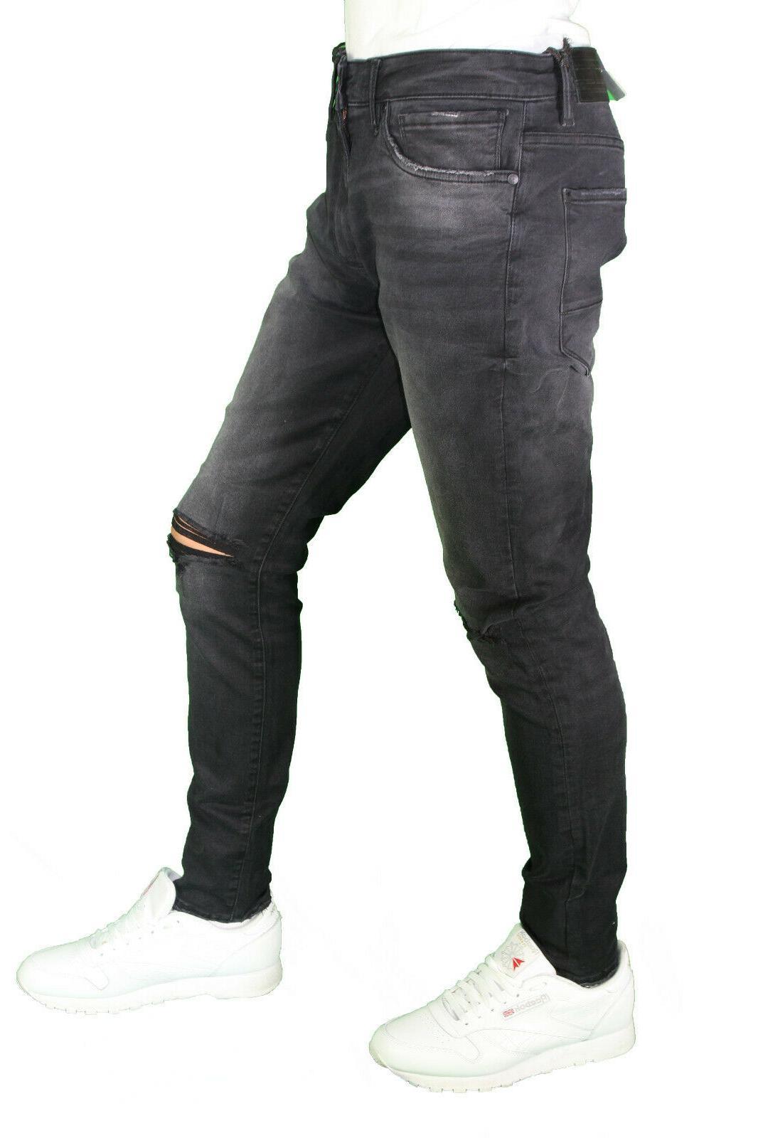 Men's Fit Super Denim Ripped Jeans 32-44