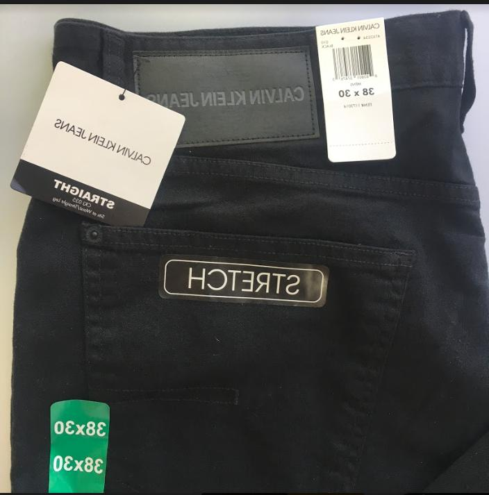 CALVIN LEG STRETCH BLACK Jeans Size:Variety