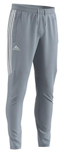 adidas Men's Soccer Tiro 17 Pants, Medium, Light Grey/White
