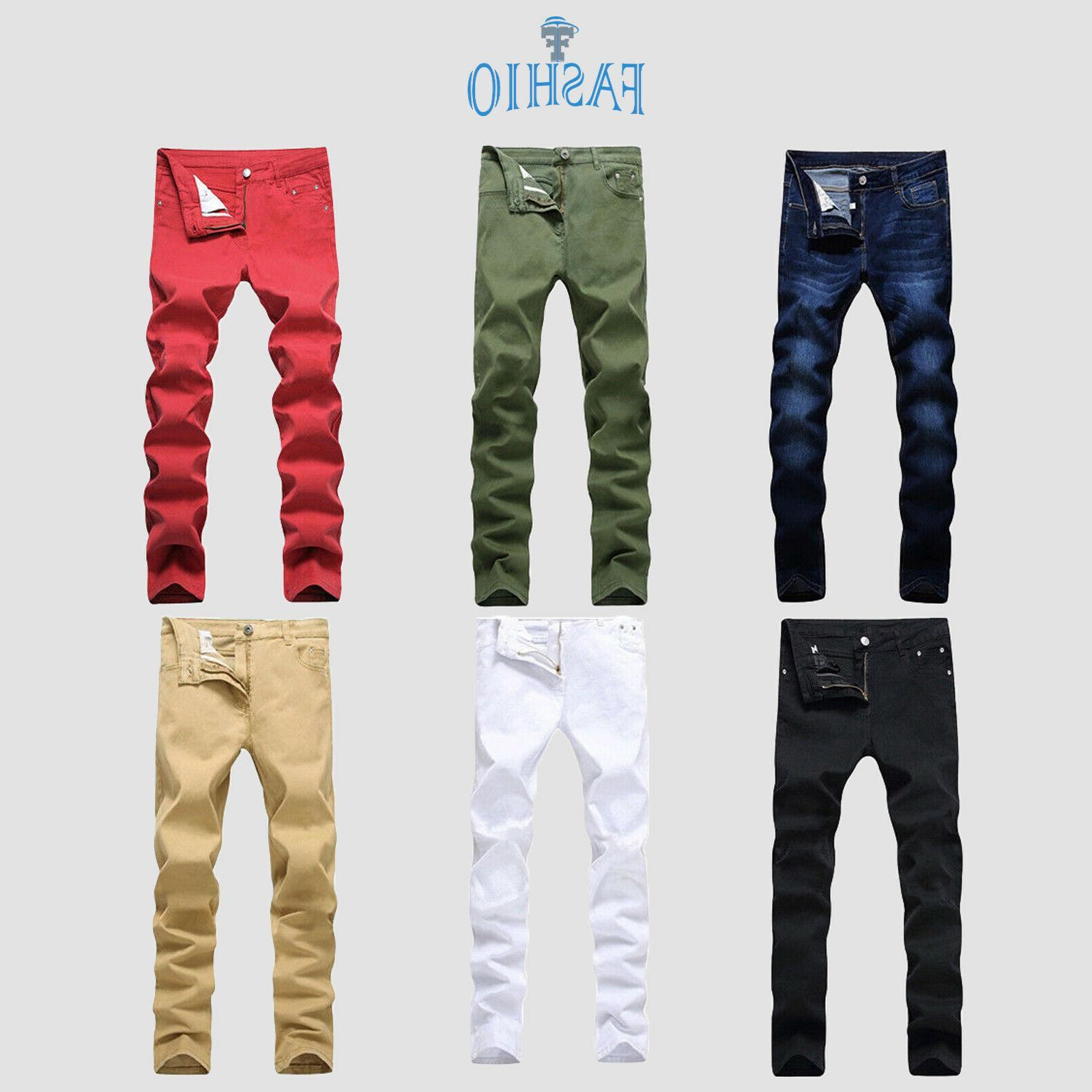 men s stretchable fitted denim fashion jeans