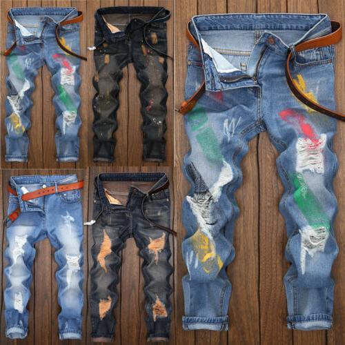 US Men Biker Pants
