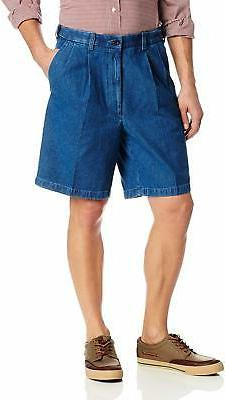 Haggar Men's Work To Weekend Expandable-Waist Pleat-Front Sh