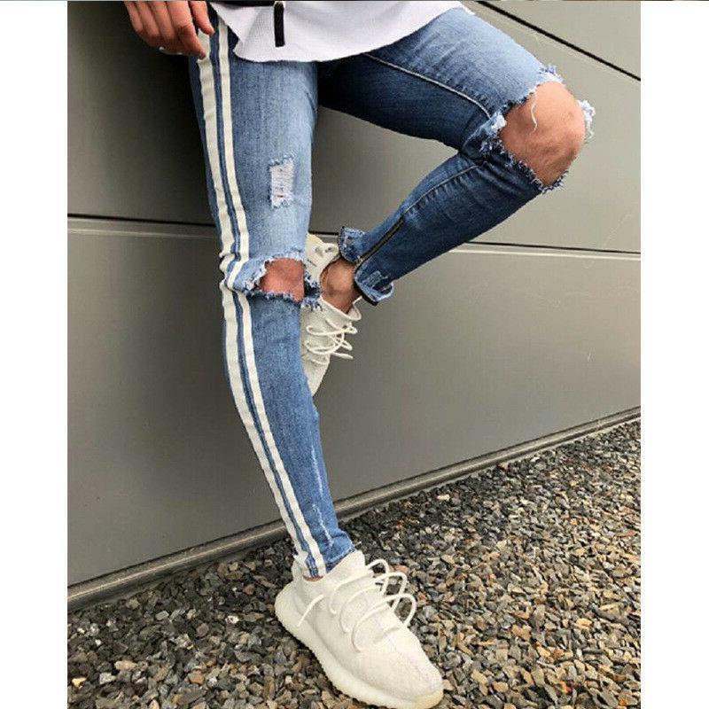Men's Jeans Track Slim Fit Pants Skinny Jeans