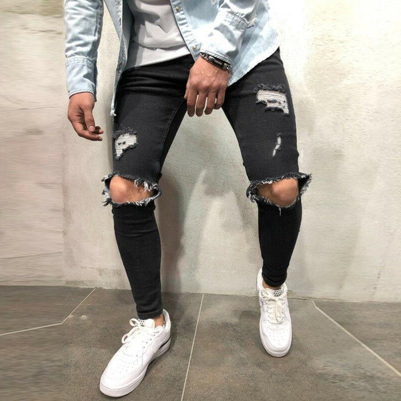 Men Skinny Distressed