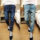 Men Sports Pants Demin Jeans Harem Training Dance Baggy Jogg