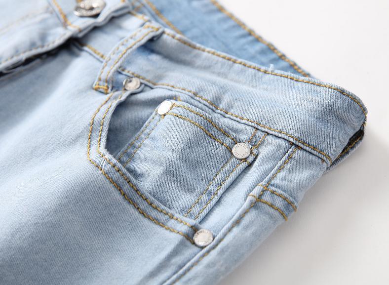 Men Stretch Ripped Skinny Jeans Distressed Fit Biker US