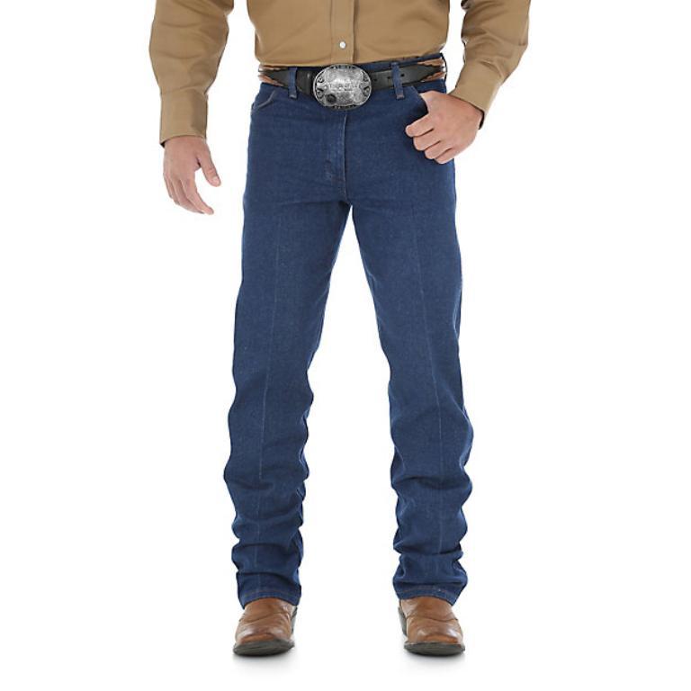 mens cowboy cut original fit prewashed indigo
