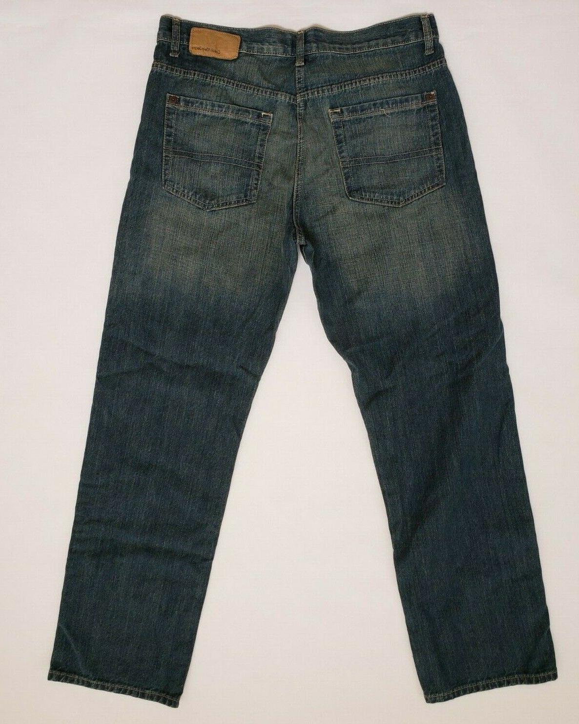 Calvin Mens 34x32 Relaxed Five Pocket Blue NEW