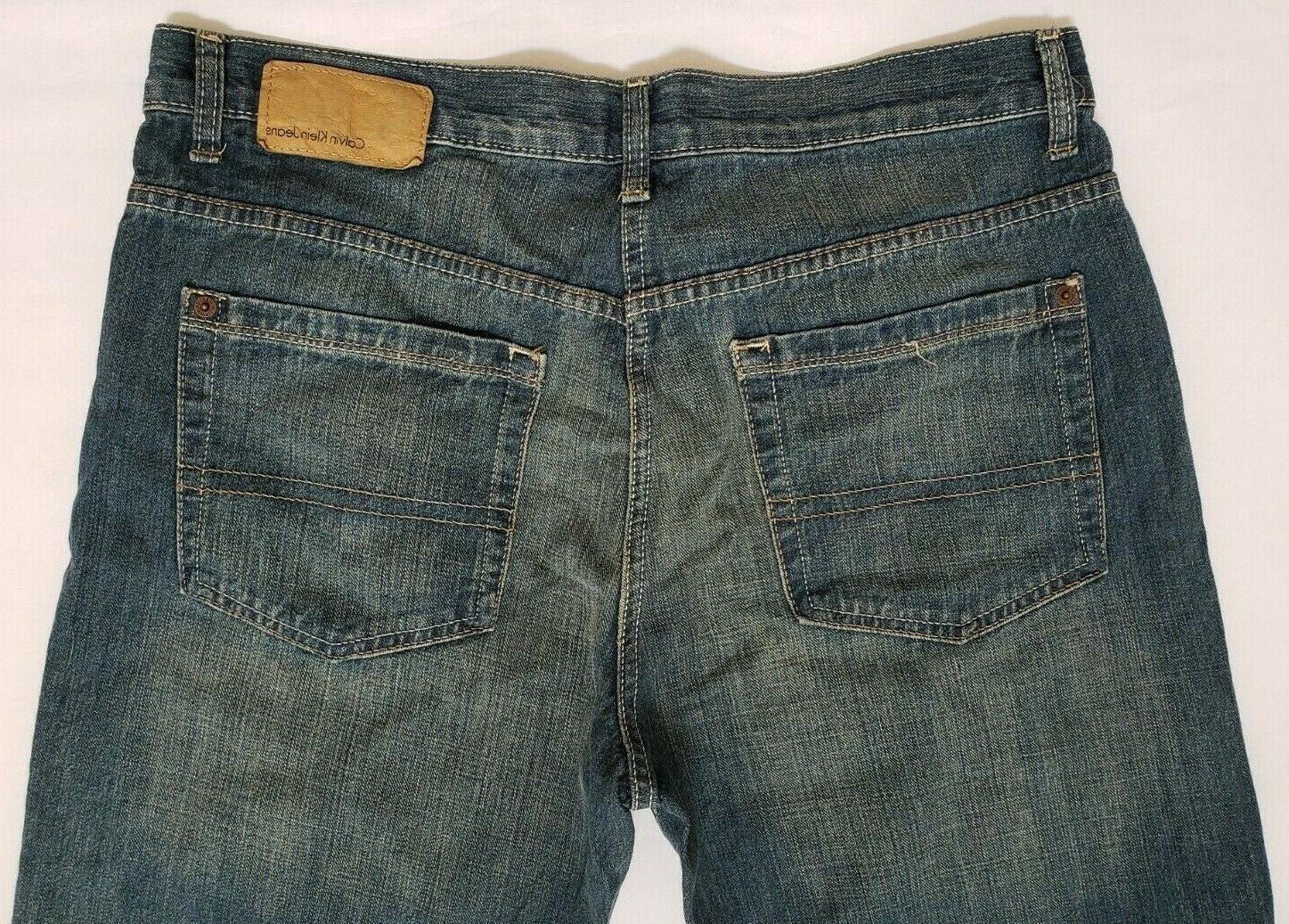 Calvin Mens Jeans 34x32 Five Pocket