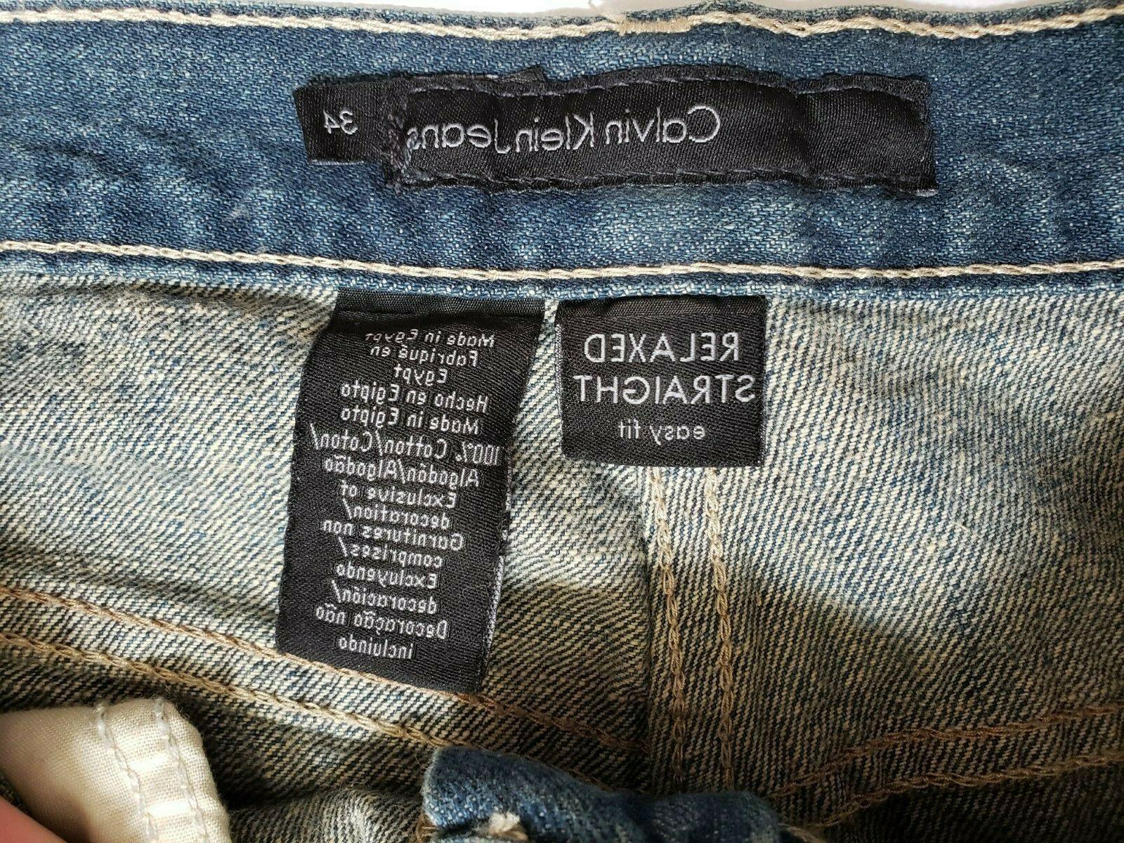 Calvin Klein Mens Jeans 34x32 Pocket