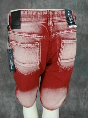 Mens Red Lava Wash Fades Fit Denim Jean