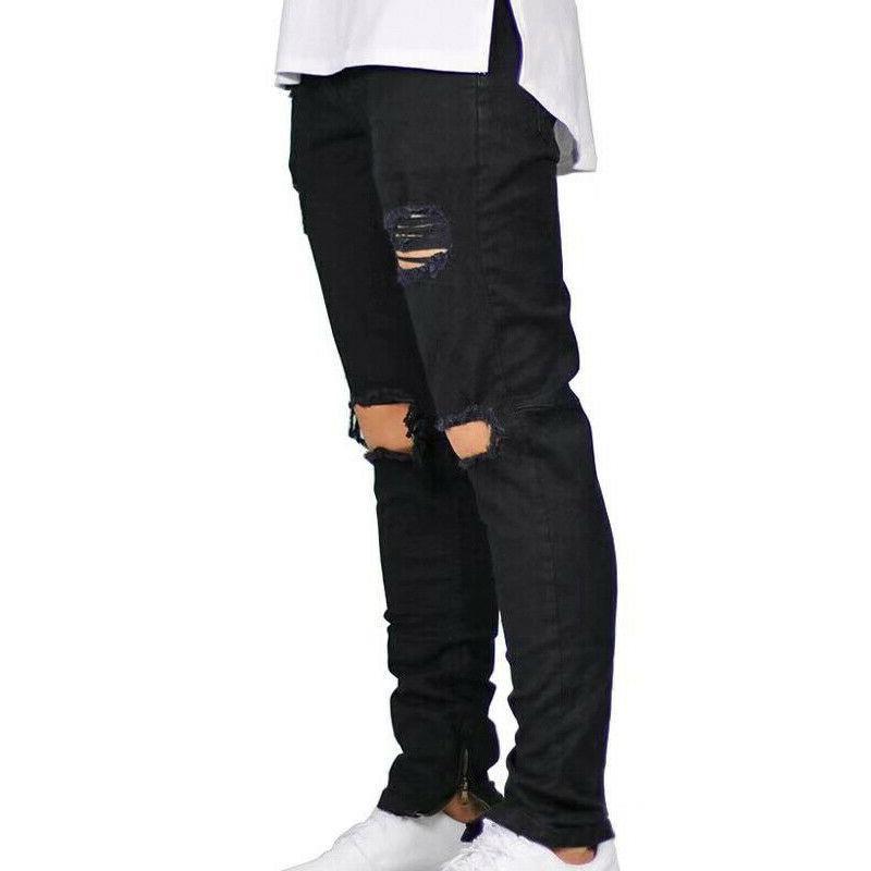 Men Distressed Skinny Fit Pants