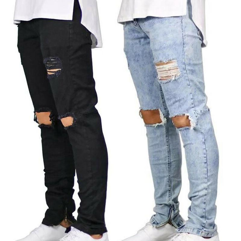 Men Skinny Frayed Slim Fit