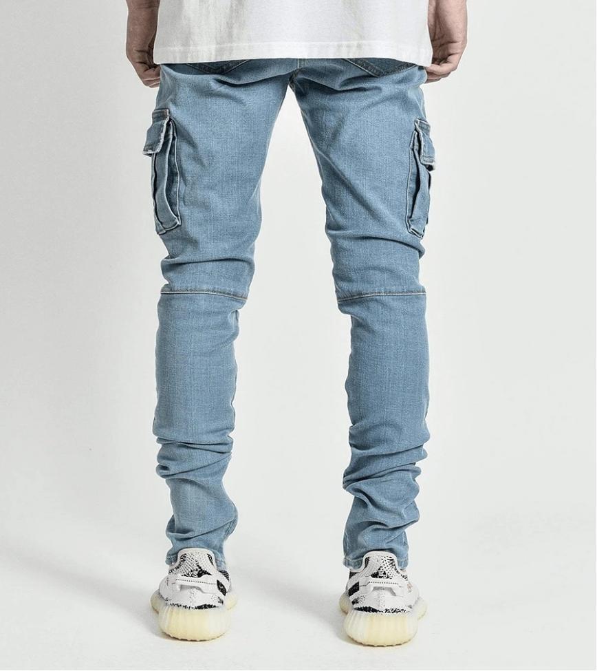 Mens Jeans Stretch Skinny Slim