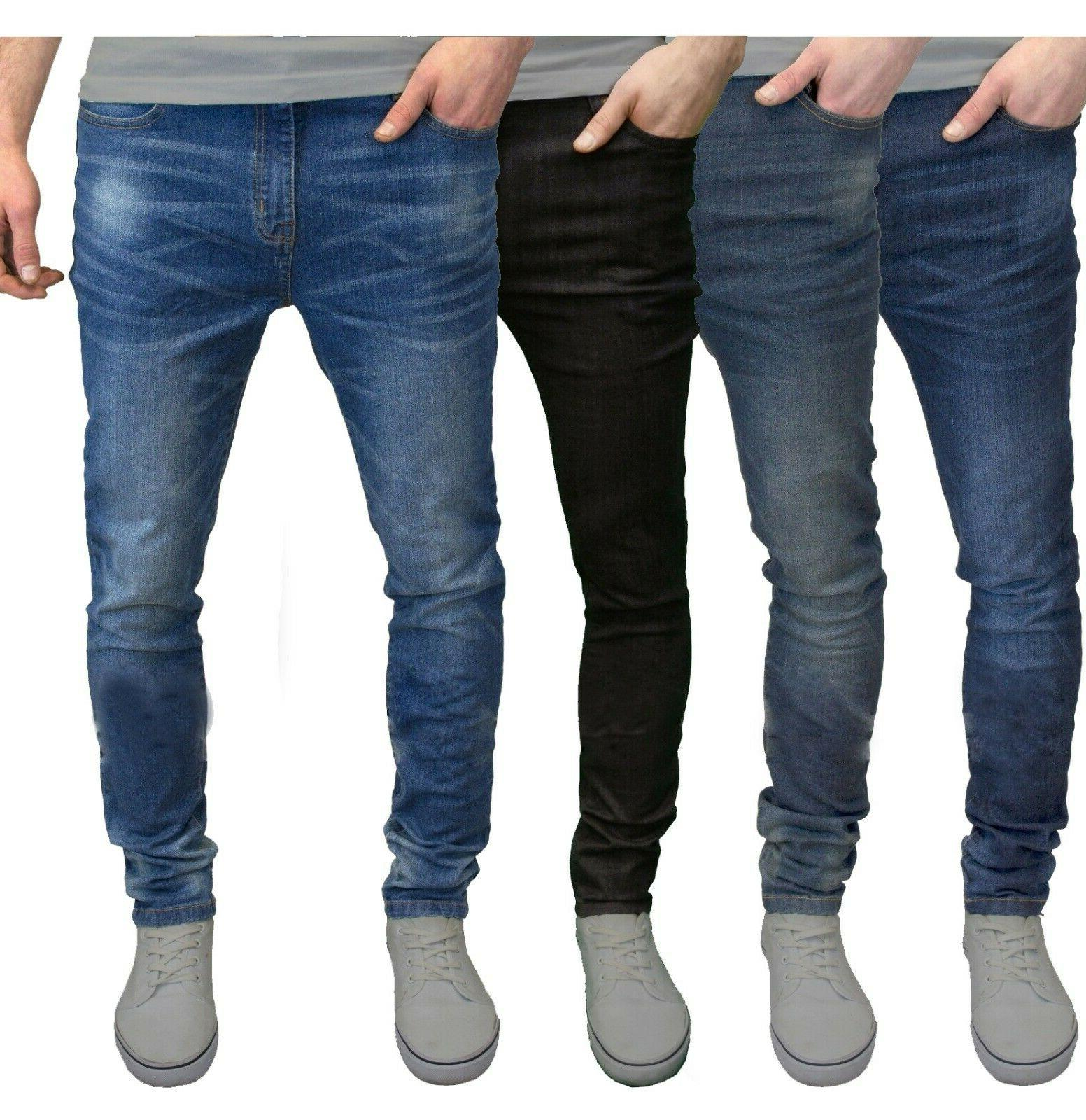 mens slim fit jeans super stretch denim