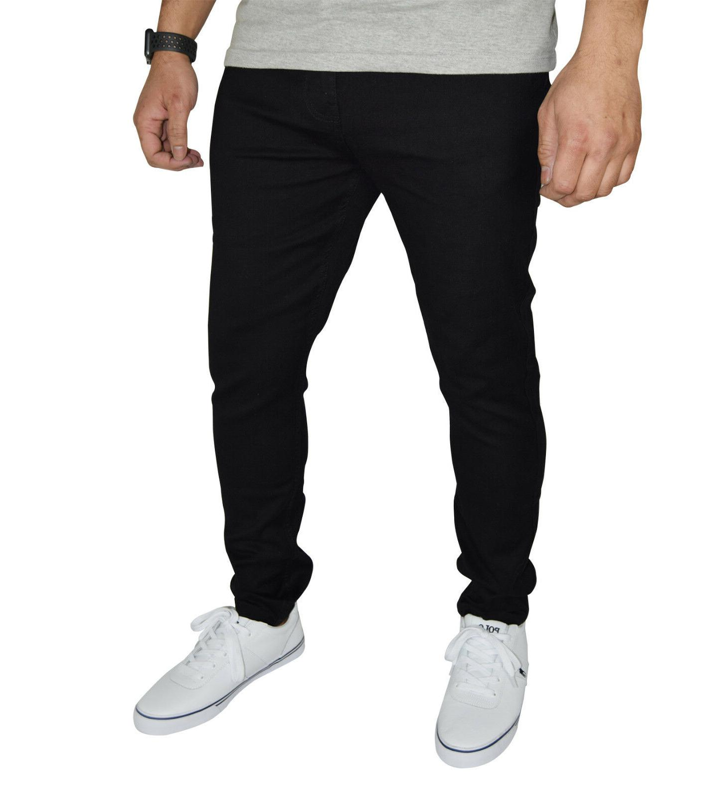 mens stretch skinny fit jeans super spandex