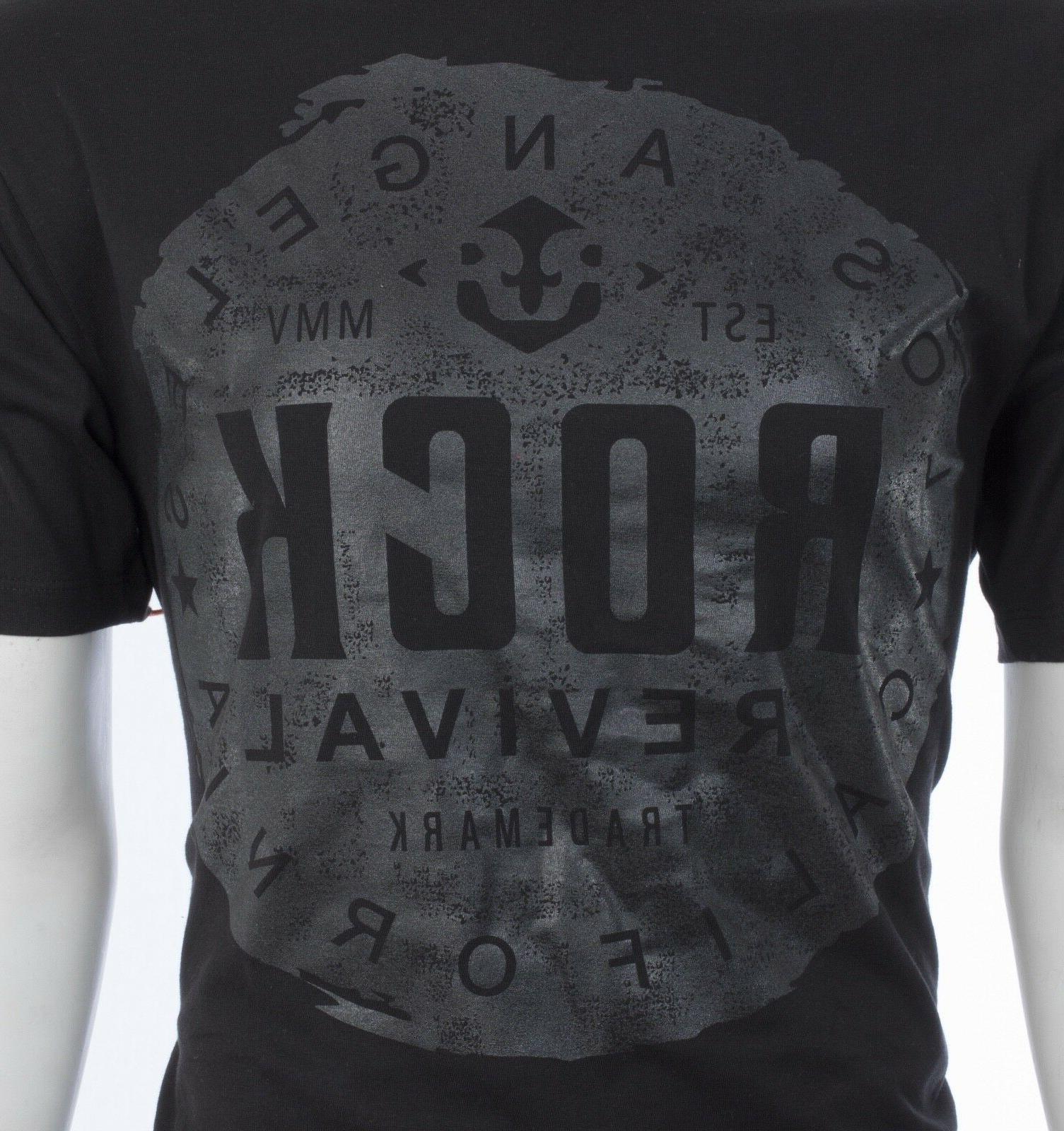Rock Revival Mens S//S T-Shirt LAFLIN Designer BLACK SNAKESKIN Jeans S-3XL $44